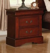 Acme 19523 Louis philippe cherry finish wood 2 drawer nightstand bed side end table