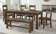 Homelegance 1957-79-6PC 6 pc Canora grey Jerrick burnished brown finish wood dining table set with bench