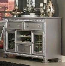 Homelegance 1958-40 Bevelle antique silver finish wood side board server console