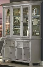 Homelegance 1958-50 Bevelle antique silver finish wood china cabinet and buffet