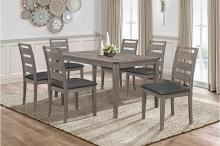2042-7PC 7 pc Canora grey mel clary brownish gray finish wood dining table set