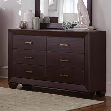 204393 Fenbrook dark cocoa finish wood dresser