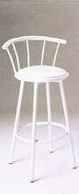 Set of 2 white finish bar stools