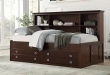 2058CPRT-1 Harriett bee hornersville meghan espresso finish wood captains twin size bed with storage and drawers
