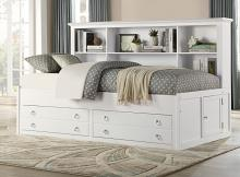 2058WHPRF-1 Harriett bee hornersville meghan white finish wood captains full size bed with storage and drawers