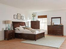 206430Q 5 pc Barstow brownish red finish wood queen storage bed set