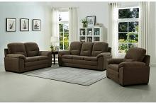 AD-2085-BRN-2PC 2 pc Clementine brown linen fabric upholstered sofa and love seat set