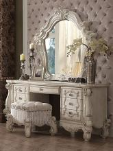 Acme 21137-38-34 3 pc Astoria grand welton versailles bone white finish wood bedroom make up vanity