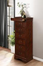 Homelegance 2147-12 Mayville burnished brown cherry finish wood 7 drawer lingerie chest