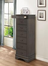 Homelegance 2147SG-12 Mayville burnished gray finish wood 7 drawer lingerie chest