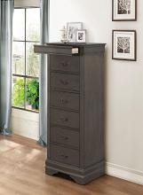 Homelegance 2147SG-12 Mayville burnished gray finish wood 7 drawer lingerie chest