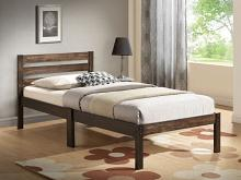 Acme 21520T Donato ash brown finish wood slatted headboard twin bed