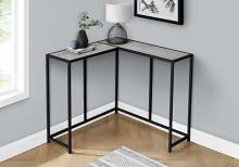 """ACCENT TABLE - 36""""L / GREY / BLACK CORNER CONSOLE"""