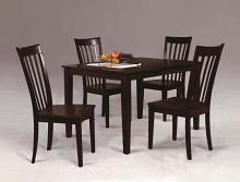2182SET-ESP 5 pc wila arlo interiors brady espresso finish wood dining table set