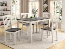 2182SET-WH/GY 5 pc wila arlo interiors brady grey/white finish wood dining table set