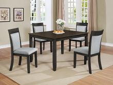 2214SET 5 pc Wila arlo interiors charlie dark finish wood dining table set
