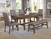 2231T-4272 6 pc Manning medium wood finish dining table set with bench