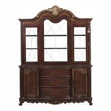 Homelegance 2243-50 2 pc Deryn park ii cherry finish wood dining server buffet china cabinet set