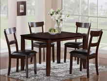2254SET 5 pc wila arlo interiors henderson dark finish wood dining table set