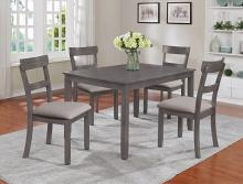 2254SET-GY 5 pc wila arlo interiors henderson grey finish wood dining table set