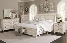 Homelegance 2259W-4PC 4 pc Darby home co Bethel white wire brush finish wood bedroom set
