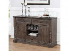 Crown Mark 2270-Server Regent grey finish wood dining buffet server sideboard cabinet