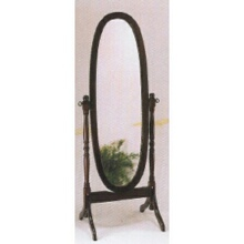 Cherry finish wood cheval mirror