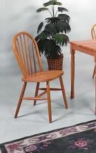 2304L-OAK Set of 4 oak finish wood farmhouse style dining chairs
