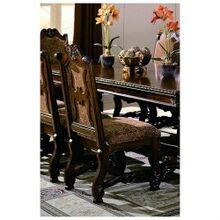 Crown Mark 2401S Set of 2 neo renaissance side chairs with wood accents and padded seat and back