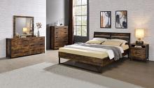 Acme 24250Q-4PC 4 pc 17 stories greylock juvanth rustic oak finish wood queen bedroom set