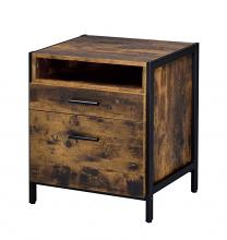 Acme 24263 Union rustic juvanth rustic oak finish wood 2 drawer nightstand bed side end table