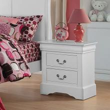 Acme 24503 Louis philippe white finish wood 2 drawer nightstand bed side end table
