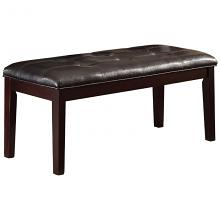 Homelegance 2544-13 Teague espresso finish wood faux leather seat bench