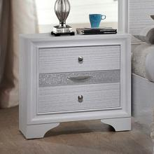 Acme 25773 Naima white finish wood 2 drawer nightstand bed side end table