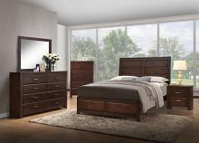 Acme 25790Q 5 pc oberreit walnut finish wood panel look queen bedroom set