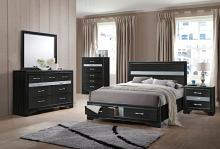 Acme 25900 5 pc Rosdorf Park Naima black finish wood panel queen bedroom set