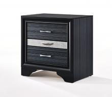 Acme 25903 Latitude run amisha Rivas black finish wood 3 drawer nightstand