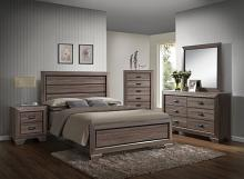 Acme 26020Q 5 pc lyndon weathered gray grain finish wood queen bedroom set