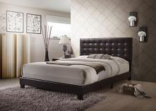 Acme 26350Q Masate espresso faux leather tufted queen bed set