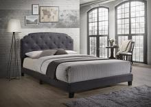 Acme 26370Q Tradilla gray fabric tufted queen bed set