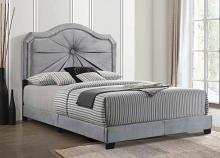Acme 26410Q Frankie gray velvet tufted queen bed frame set