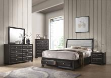 Acme 26540Q 5 pc Sotheris antique gray finish wood storage drawers queen bedroom set