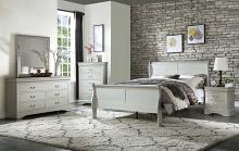 Acme 26730Q 5 pc louis philippe iii platinum finish wood sleigh queen bedroom set