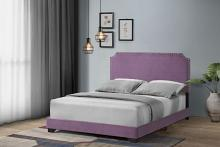 Acme 26750Q Latitude run Haemon light purple fabric upholstered queen bed frame set