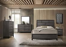 Acme 27050Q 4 pc Valdemar weathered gray grain finish wood queen bedroom set