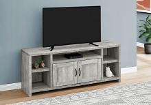 """TV STAND - 60""""L / GREY RECLAIMED WOOD-LOOK"""