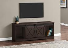 """TV STAND - 60""""L / ESPRESSO WITH 2 SLIDING DOORS"""