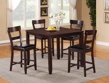 2754SET 5 pc Gracie oaks henderson brown finish wood counter height dining table set