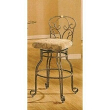 Set of 2 trona metal bar stool chairs