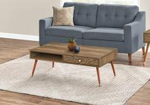 COFFEE TABLE - WALNUT MID-CENTURY WITH A DRAWER